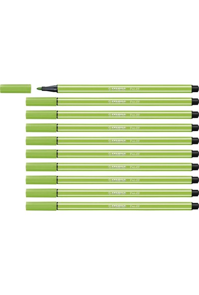 Stabilo Pen 68 Keçe Uçlu Kalem 10'lu Açık Yeşil 68-33