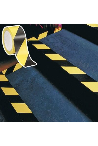 Hedefsan Sarı Siyah Yer Işaretleme Bandı Ikaz Bant Fosforlu 48x30 m