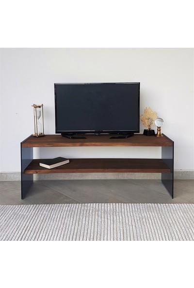 Neostill - Ahşap Tv Sehpası Woodn Glass TV100