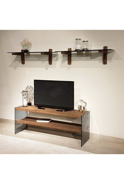 Neostill - Ahşap Tv Ünitesi Wood'n Glass TV102