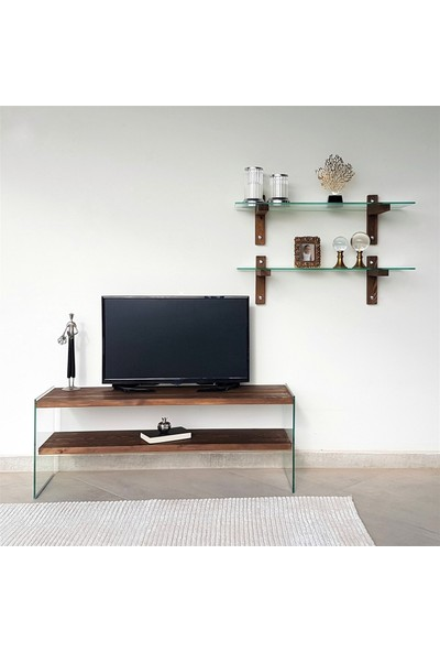 Neostill - Ahşap Tv Ünitesi Woodn Glass TV105