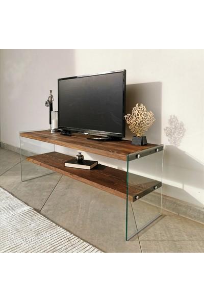 Neostill - Ahşap Tv Sehpası Woodn Glass TV103