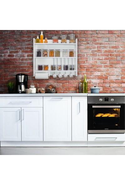 Ankaflex Ahşap Mutfak Dolap Rafı Terek Baharatlık Raf Mutfak Tereği
