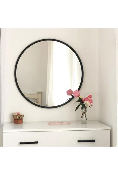 Neostill - Siyah Metal Çerçeve Yuvarlak Ayna A710