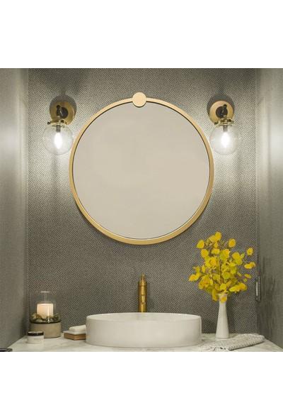 Neostill - Gold Metal Çerçeve Yuvarlak Ayna A708
