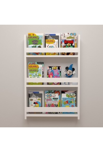 Ue Mobilya Montessori Çocuk Odası Eğitici Kitaplık Rafı