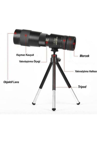 Dailytech 10-300X40 Zoom Monoküler Teleskop Dürbün Telefon Tutuculu