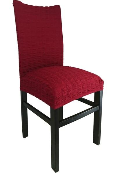 Eslight 4'lü Likralı Bürümcük Sandalye Kılıfı Krem