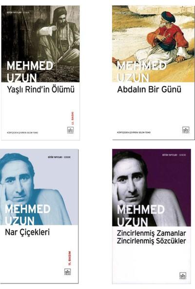 Mehmed Uzun 4 Kitap Set | Yaşlı Rind'in Ölümü - Abdalın Bir Günü - Nar Çiçekleri - Zincirlenmiş Zamanlar Zincirlenmiş Sözcükler