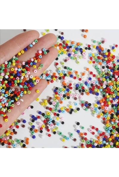 Platin Hediyelik 250 Gram 3 mm Karışık Renk Cam Kum Boncuk