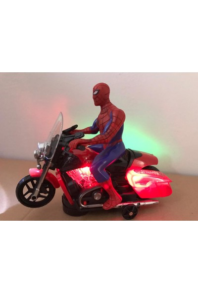 Kardelen Spiderman Pilli Işıklı Motorlu Örümcek Adam
