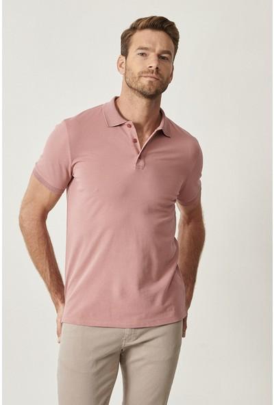Altınyıldız Classics Polo Yaka Cepsiz Slim Fit Dar Kesim Koton Düz T-Shirt