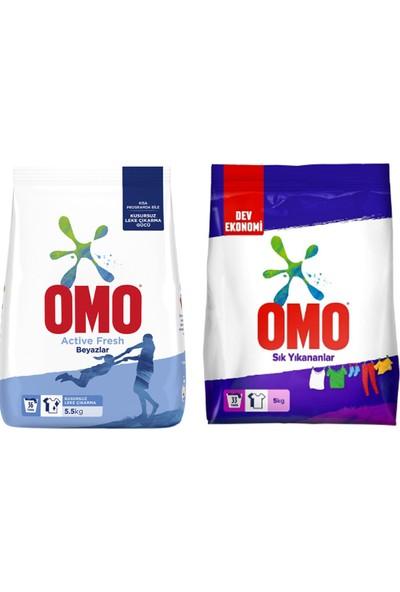 Omo 5,5 kg Actıve Fresh + Omo 5 kg Sık Yıkananlar