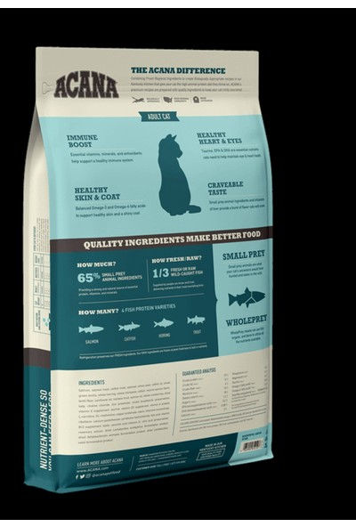 Acana Bountiful Güçlü ve Sağlıklı Kemikler Için Balıklı Tahılsız Yetişkin Kedi Maması 340G