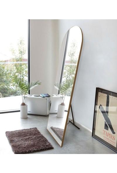 Hüma's 180 x 60 cm Teak Ayaklı Oval Boy Aynası