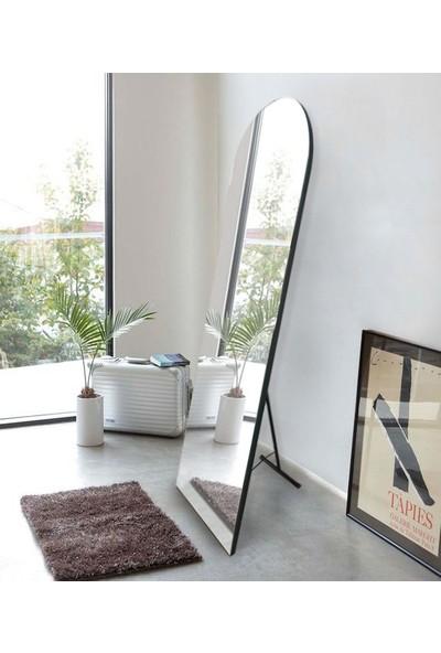 Hüma's 180 x 60 cm Siyah Ayaklı Oval Boy Aynası
