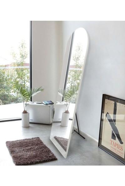 Hüma's 180 x 60 cm Beyaz Ayaklı Oval Boy Aynası