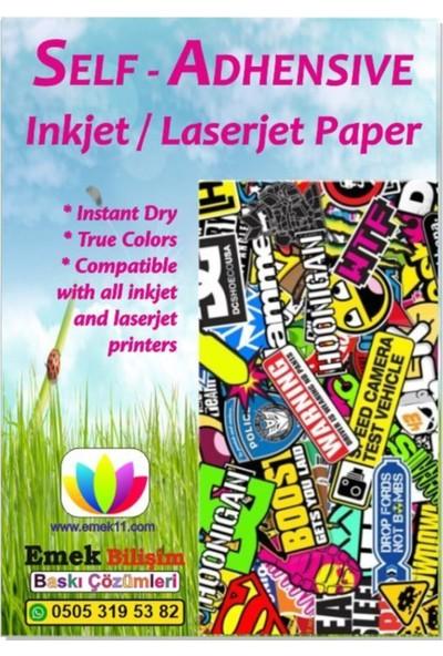 Emek Yapışkanlı Sticker Kağıt A4 Inkjet ve Laser 120 Gr/m² 100'LÜ
