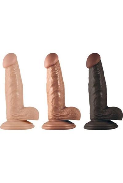 Lovetoy Real Extreme Gerçekçi 18 cm Kalın Realistik Dildo Penis + Playboy Masaj Yağı