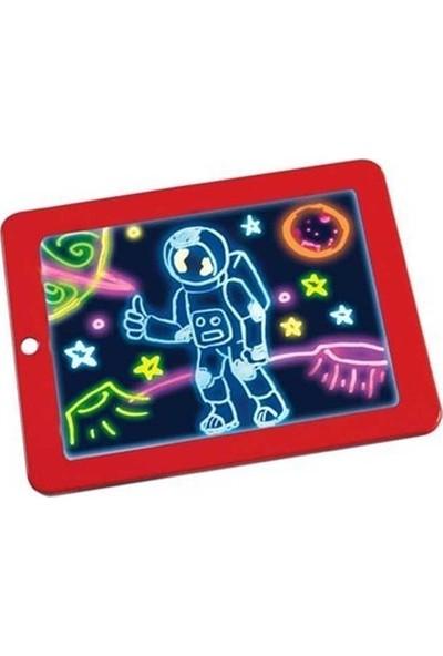 Magic Pad Yazı Çizim Tahtası Resim Şekil Tablet Tipi Işıklı Ledli