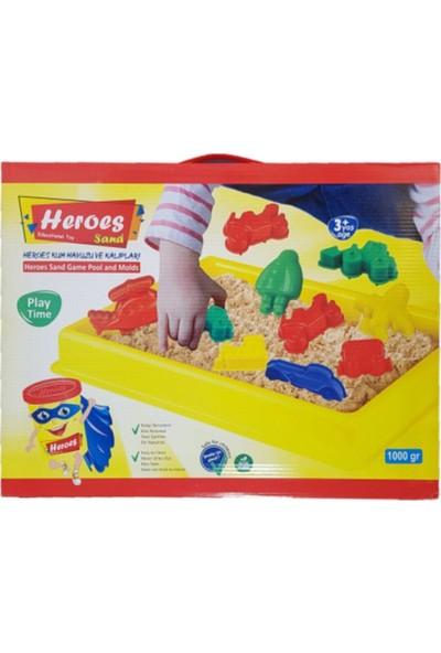 Heroes Kinetik Kum Havuzlu 1000 gr Kum Araçlar