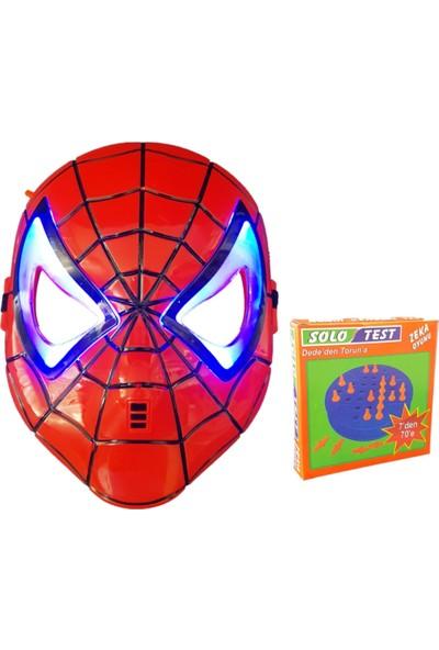 Spiderman Maske Işıklı ve Solo Test