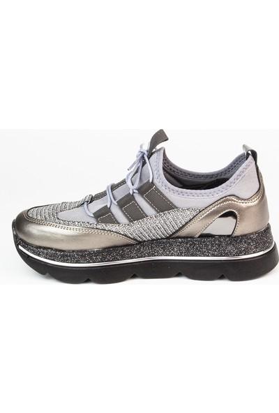 Marine Shoes Kadın Platin Spor Ayakkabı