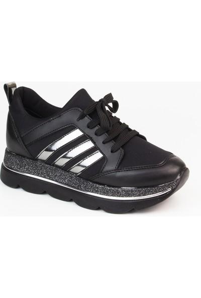 Marine Shoes Kadın Siyah Spor Ayakkabı