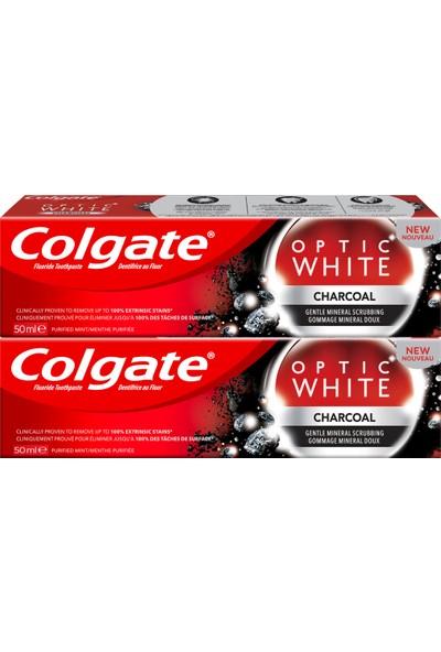Colgate Optic White Charcoal Aktif Kömür Yumuşak Mineral Temizliği 50 ml x 2