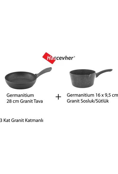 Hascevher Germanitium Granit 28 cm Tava + 16 cm Sütlük Sosluk
