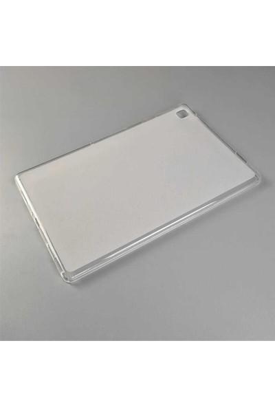 CepArea Samsung Galaxy Tab A7 10.4 T500 2020 Kılıf Tablet Süper Silikon Kapak Şeffaf