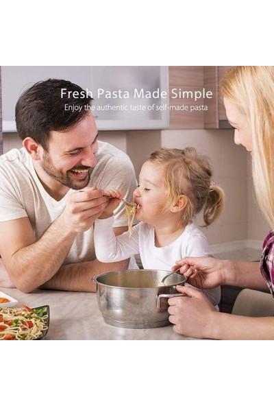 Masho Trend 150 mm Erişte Makinası - Makarna Yapma Makinesi - Pasta Maker + 6 Silikon Kapak + 4 Mikrofiber Bez