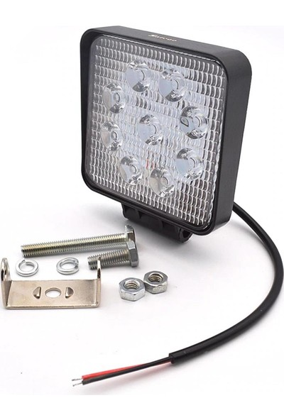 Niken 2 Adet Off Road Sis Farı Çalışma Lambası 9 Ledli 12V / 24 V