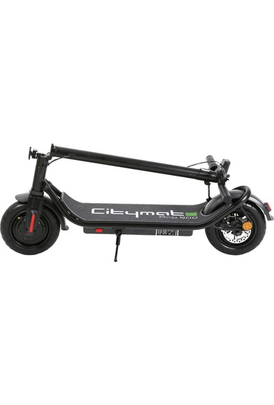 Citymate Pro 500 Watt Elektrikli Scooter 10 Inch Şişme Teker Bluetoothlu Siyah