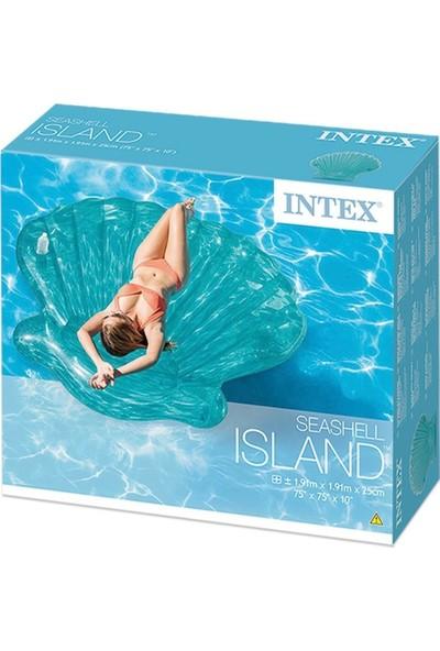 intex Şeffaf Deniz Kabuğu Ada Yatak 191X191X25CM Intex - 57255