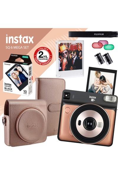 Instax Sq 6 Altın-Siyah Fotoğraf Makinesi ve Mega Hediye Seti