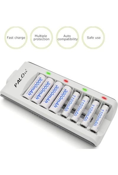 Palo 8 Yuvalı Hızlı Pil Şarj Cihazı