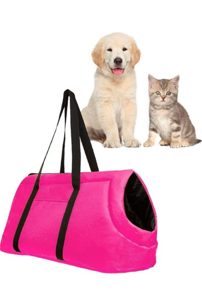 Tropheus Çanta Evcil Hayvan Fuşya Renk El Omuz Çantası Kedi Köpek Taşıma Çantası Pet Seyahat Çantası