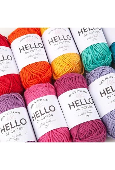 Hello Punch ve Amigurumi İplik Seti 25G x 12 Adet Canlı Renkler