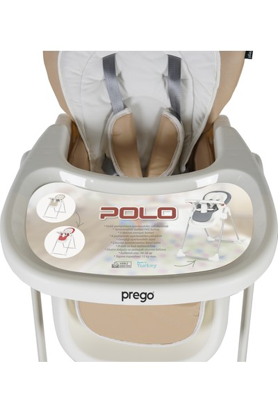 Prego Polo Mama Sandalyesi Krem 3850