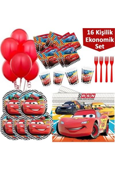 Kullanatparty Lisanslı Cars Parti Malzemeleri Seti - 16'lı Ekonomik Set