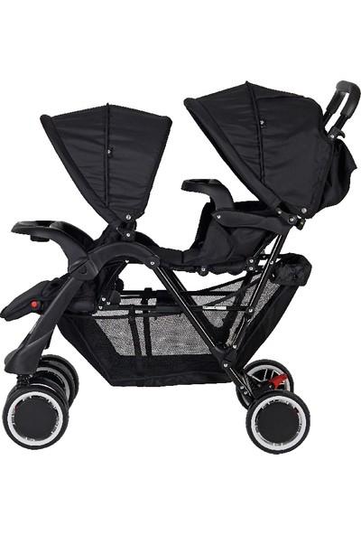 Sunny Baby Orbis İkiz Bebek Arabası Siyah 9024