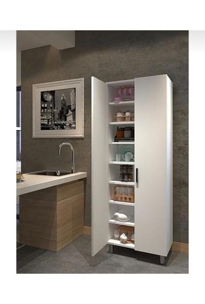 Elite % 100 Mdf 8 Bölmeli 70 cm Çok Amaçlı Mutfak/banyo/kiler/ofis Dolabı