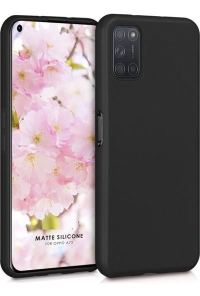 zengin çarşım Oppo A52 - A72 Yumuşak Silikon Kılıf Siyah