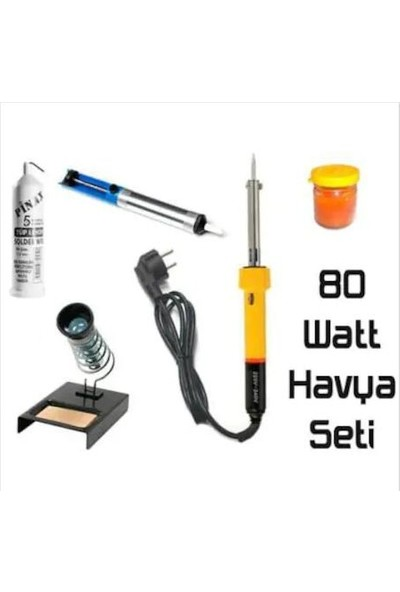 Real 80W Lehim Makinesi + Leyim Tel + Pasta + Pompa + Stand 5 Özel Parça Hobi Seti Elektronikçi Seti