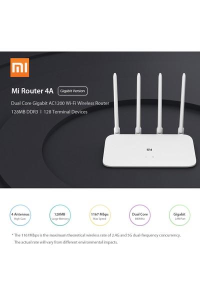 Xiaomi Mi Router 4A Gigabit Sürüm 2.4GHz 5GHz Wifi 4 Anten (Yurt Dışından)