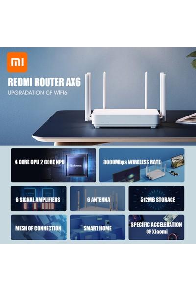 Redmi Router Ax6 Wifi6 Gigabit Sürümü 2.4GHz 5.0GHz 2976 Mbps 6 Anten (Yurt Dışından)