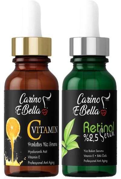 Carino E Bella C Vitamini Serum %20 - Retinol Serum %2,5 Black 30 ml