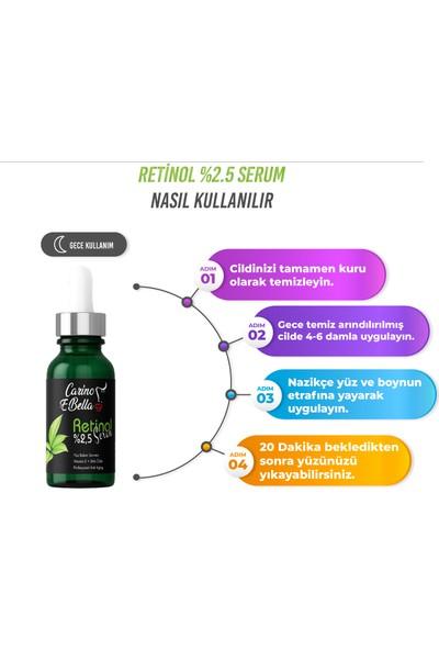 Carino E Bella Hyaluronik Asit Serum %2 - Retinol Serum %2,5 Black 30 ml
