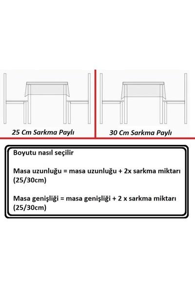 Derinteks Kırmızı Kareli 130 x 220 cm Gündelik Kullanım Masa Örtüsü